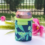 Monogrammed Lilly Pulitzer Can Cooler - Fallin in Love