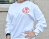 Monogrammed Long Sleeve Shirt - Christmas Glitter Monogram