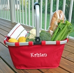 Monogrammed Market Tote - Red