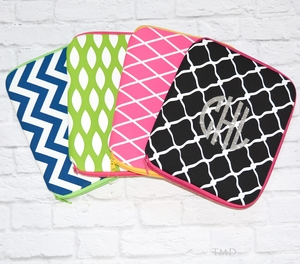 Monogrammed Neoprene Tablet Covers - 4 Styles