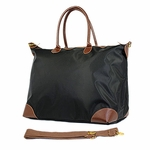 Monogrammed Overnight Tote with Faux Leather Handles