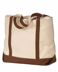 Monogrammed Personalized Beach Tote Bag - Chocolate Brown