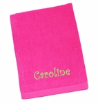 Monogrammed Personalized Beach Towel- Pink- NEW!