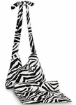 Monogrammed Tote and Towel Set - Zebra Print