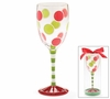Monogrammed Whimsical Holiday Wine Glasses