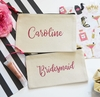 Personalized Bridesmaid Cosmetic Bag Set