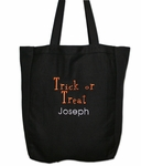 Personalized Trick or Treat Tote Bag - Cute for Halloween
