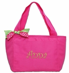 Preppy Monogrammed Insulated Lunch Tote