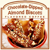 Chocolate-Dipped Almond Biscotti Flavored Coffee (1/2lb bag)