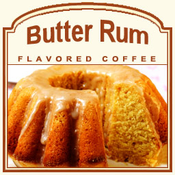 Decaf Butter Rum Flavored Coffee (1lb bag)