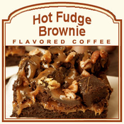 Decaf Hot Fudge Brownie Flavored Coffee (1lb bag)
