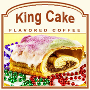 Decaf King Cake Flavored Coffee (1/2lb bag)