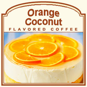 Decaf Orange Coconut Flavored Coffee (1lb bag)