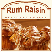 Decaf Rum Raisin Flavored Coffee (1/2lb bag)