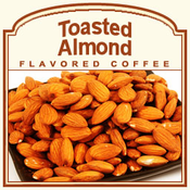 Decaf Toasted Almond Flavored Coffee (1lb bag)