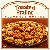 Decaf Toasted Praline Flavored Coffee (1lb bag)
