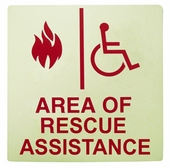 Area Of Rescue Signs Rath Area Of Refuge