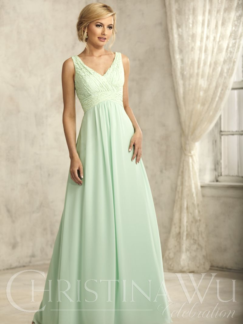 Meadow colored bridesmaids dress