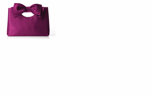 Dessy Accessories - Dupioni Clutch with Interchangeable Bow