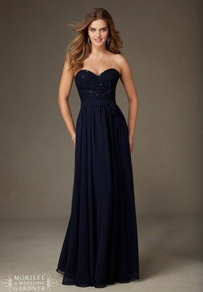 Mori Lee BRIDESMAID DRESSES: Mori Lee Bridesmaid ML 128