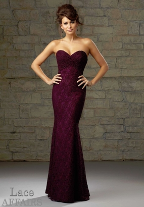 Mori Lee BRIDESMAID DRESSES: Mori Lee Lace Affairs 726