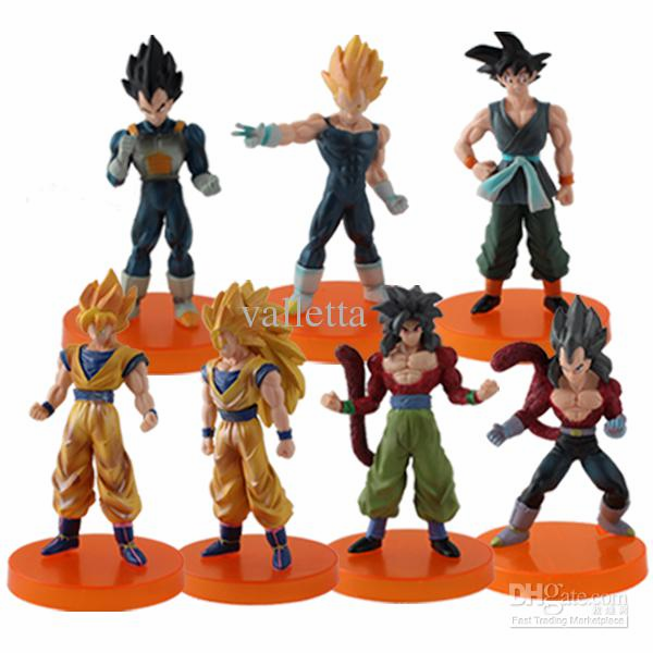 Japanese Anime Dragon Ball Z Characters, set of 7, 11cm each (Toys, new)