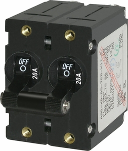 <b>20AMP</b> Black Toggle 7236