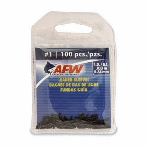 AFW Single Barrel Leader Sleaves -Black <b>(#1) (100-Pack) -MFG#J01B-B</b>
