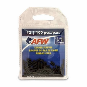 AFW Single Barrel Leader Sleaves -Black <b>(#2) (100-Pack) -MFG#J02B-B</b>