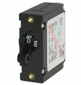 Blue Sea A-Series White/Black Toggle Circuit Breaker - Single Pole AC/DC