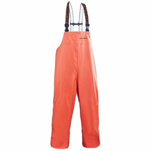 Grundens Petrus 116 Bib Pants PU/Poly -Orange