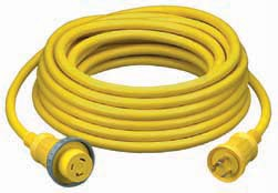 Hubbell 30 Amp 125 Volt Cables, Yellow and White