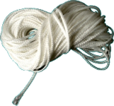 Braided Rope, White, .07""