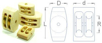 "Double Wooden Block<br>1/8"" (3mm)"