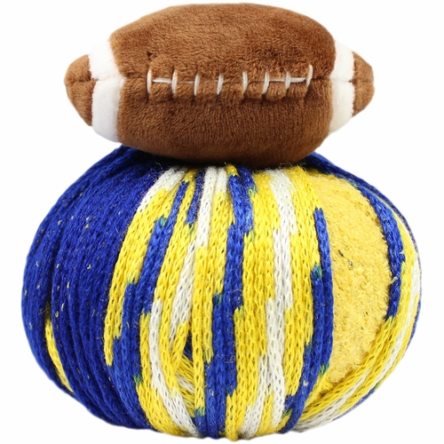 Knitting Warehouse Free Shipping : Dmc top this yarn team colors blue gold
