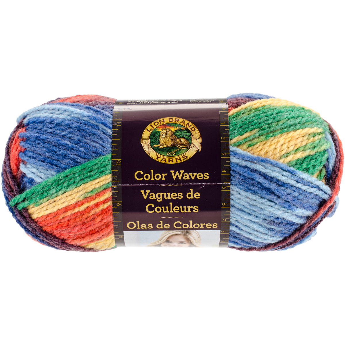 Knitting Warehouse Free Shipping : Lion brand color waves yarn starboard