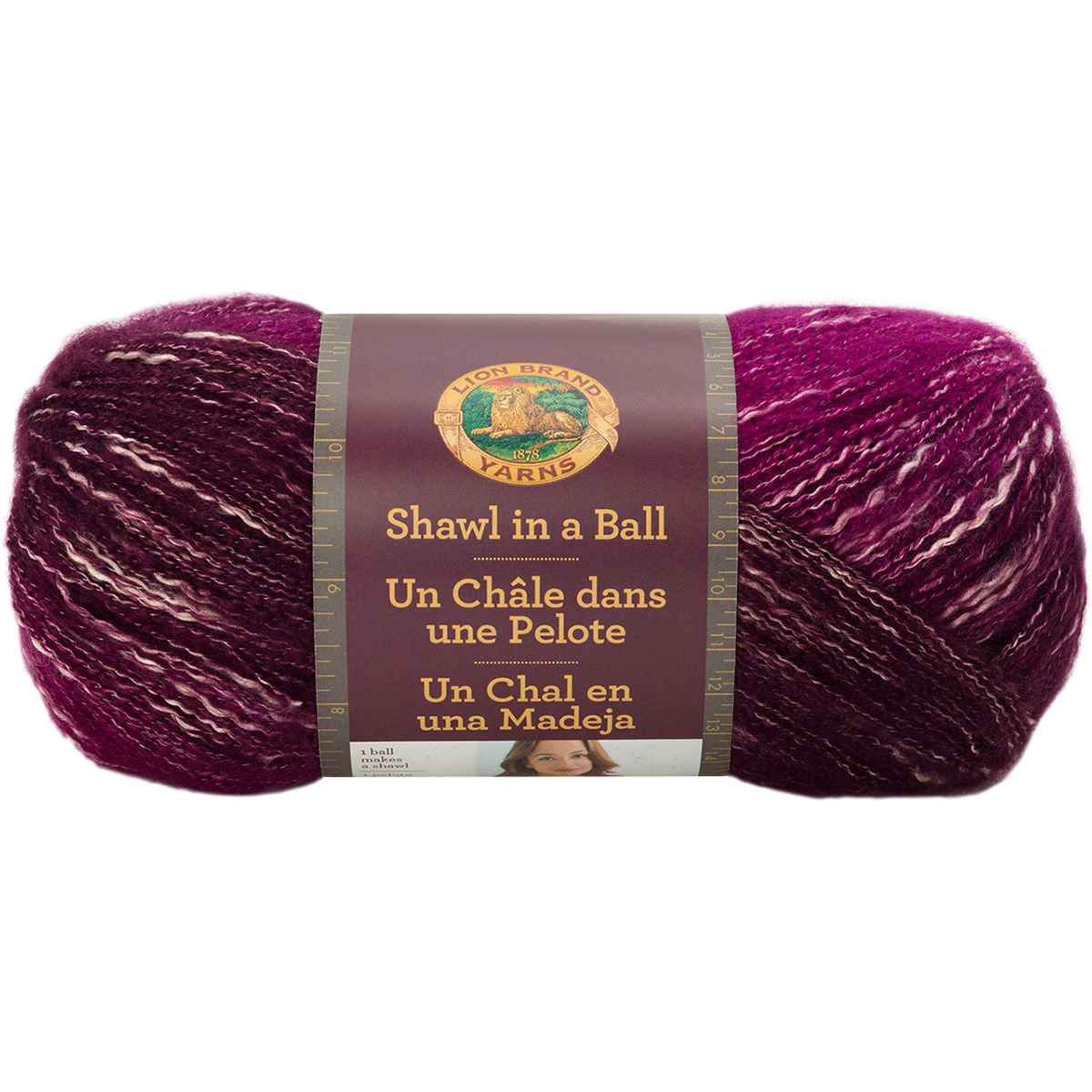 Knitting Warehouse Shipping : Lion brand shawl in a ball yarn