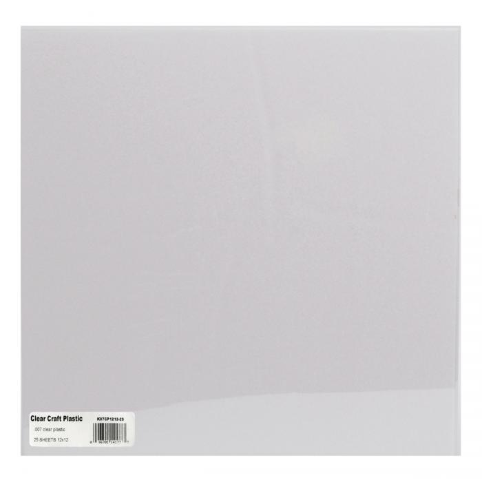 Clear craft plastic sheets 12 x12 25 pkg 007 for Clear plastic sheets for crafts