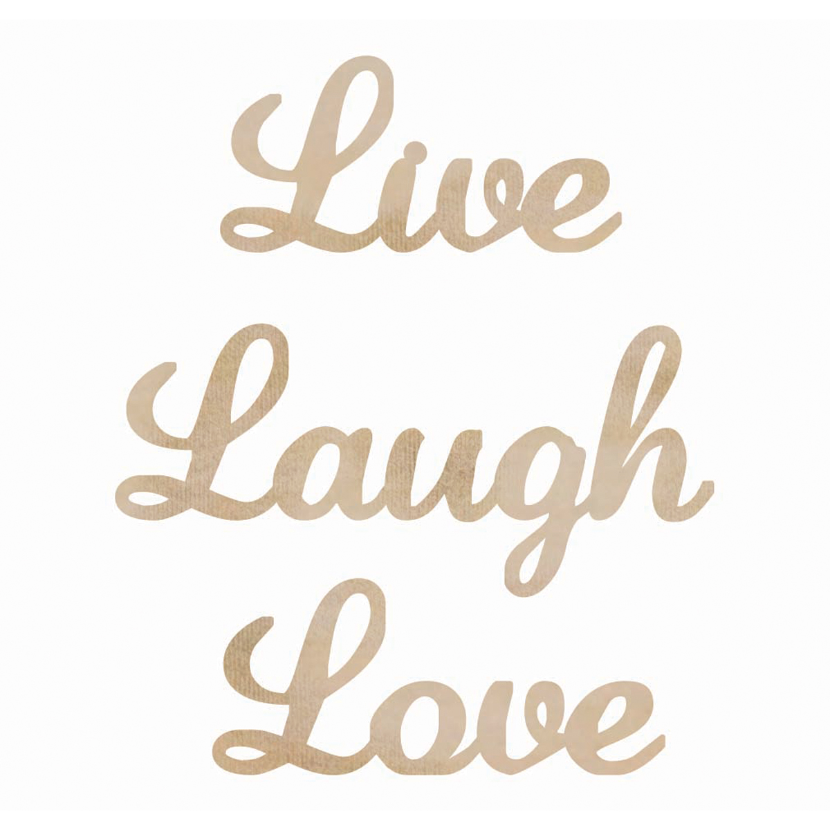 Wood Flourishes Words - Live Laugh Love