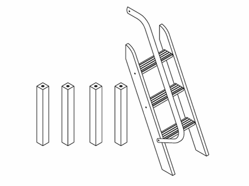 1413 Angled Ladder and Legs for Maxtrix Low Loft