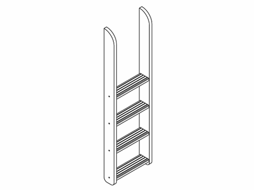 1420 Straight Ladder for Maxtrix LOW Bunk Bed