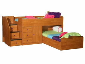 22-741 Captains Bed for 2 with 3-Stairs