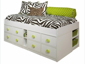 22-950 Jr Captains Bed with 8-Drawers