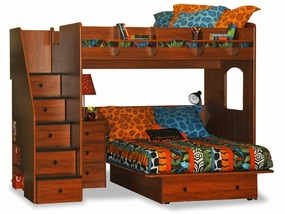 23-905-63 Utica Full over Full High Loft Bed with 5-Stairs