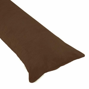 Chocolate Brown Body Pillow Case