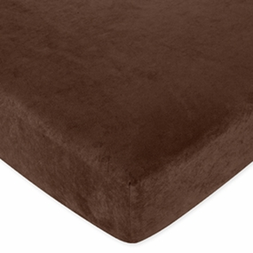Chocolate Brown Fitted Crib Sheet