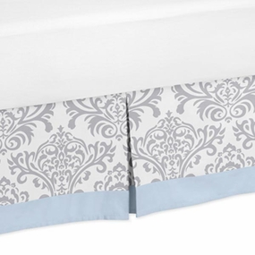 Avery Blue and Gray Full/Queen Bed Skirt