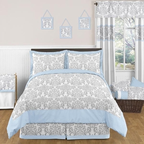 Avery Blue and Gray Kids Bedding Collection