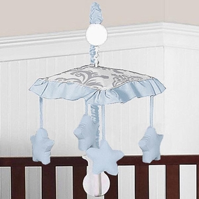 Avery Blue and Gray Musical Crib Mobile