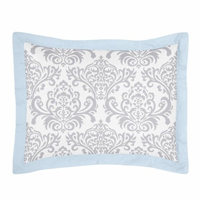 Avery Blue and Gray Pillow Sham